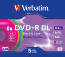 Płyty DVD + R VERBATIM 8,5 GB Double Layer (DL)